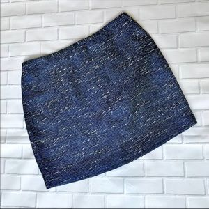 "Madewell tweed ""courtyard"" mini skirt"